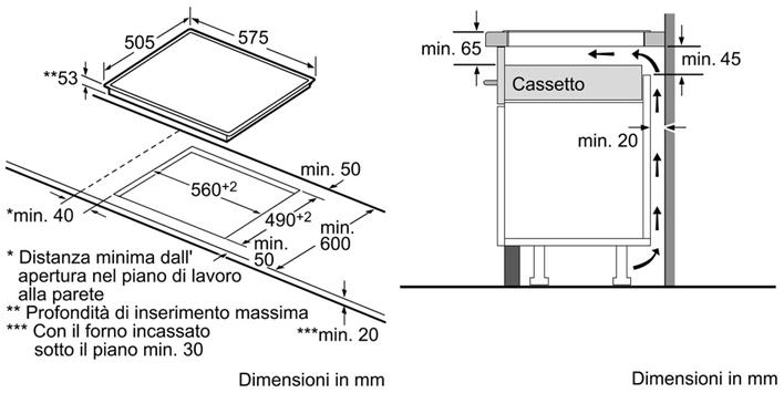 Piano cottura 60cm induzione bosch pie645q14e forum for Dimensioni piano cottura